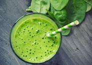 """<p>There are few vitamins and minerals that are NOT in spinach. It's rich in potassium, magnesium, iron, calcium, and vitamins B6, B9, E, C, and K.</p><p><strong>For a spinach-packed smoothie</strong>, blend 1 banana, ½ cup frozen berries, ½ cup baby spinach leaves, 1 scoop vanilla protein powder (or 1 tablespoon peanut butter) and 1 to 1½ cups unsweetened vanilla almond milk until smooth. Serves 1. – Recipe courtesy of <em><a href=""""https://order.hearstproducts.com/subscribe/hstproducts/239737"""" rel=""""nofollow noopener"""" target=""""_blank"""" data-ylk=""""slk:Secrets of the World's Healthiest People"""" class=""""link rapid-noclick-resp"""">Secrets of the World's Healthiest People</a></em></p>"""