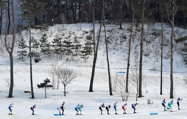 Cross-Country Skiing - Pyeongchang 2018 Winter Olympics - Men's 50km Mass Start Classic - Alpensia Cross-Country Skiing Centre - Pyeongchang, South Korea - February 24, 2018 - Athletes compete. REUTERS/Toby Melville TPX IMAGES OF THE DAY