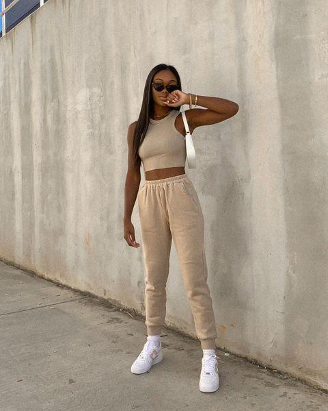 "<p>A cool sneaker and sunglasses brings a fashion edge to your sweatpants. This is the perfect look for when you need that coffee fix but don't want people to know you just rolled out of bed.</p><p><strong>What you'll need: </strong><em>Trinity Ribbed Tank Top, $24.90, Storets</em></p><p><a class=""link rapid-noclick-resp"" href=""https://go.redirectingat.com?id=74968X1596630&url=https%3A%2F%2Fwww.storets.com%2Fcollections%2Fall-top%2Fproducts%2Ftrinity-ribbed-tank-top%25EC%259D%2598-%25EC%2582%25AC%25EB%25B3%25B8%3Fvariant%3D32834838298709&sref=https%3A%2F%2Fwww.seventeen.com%2Ffashion%2Fstyle-advice%2Fg708%2Fcute-jogger-sweatpants%2F"" rel=""nofollow noopener"" target=""_blank"" data-ylk=""slk:SHOP NOW"">SHOP NOW</a></p><p><a href=""https://www.instagram.com/p/CGTPYtopoBt/?utm_source=ig_embed&utm_campaign=loading"" rel=""nofollow noopener"" target=""_blank"" data-ylk=""slk:See the original post on Instagram"" class=""link rapid-noclick-resp"">See the original post on Instagram</a></p>"