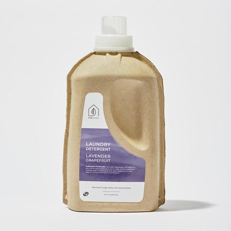 """<p>shoppurhome.com</p><p><strong>$18.95</strong></p><p><a href=""""https://shoppurhome.com/collections/laundry/products/laundry-detergent-50-oz"""" rel=""""nofollow noopener"""" target=""""_blank"""" data-ylk=""""slk:Shop Now"""" class=""""link rapid-noclick-resp"""">Shop Now</a></p><p>If you're committed to keeping every part of your home safe, Pur Home offers laundry solutions that are plant-based and toxin free—and packaged in compostable packaging to boot. Founders Angela and Michelle Richardson are passionate about supporting environmental causes and clean water access. </p>"""