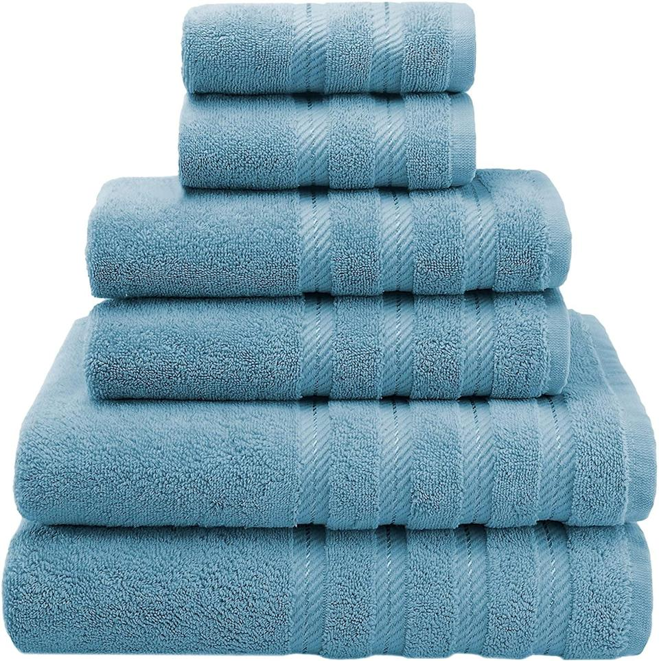 <p>With over 13,000 positive reviews, you can't go wrong with the <span>American Soft Linen 6-Piece 100% Turkish Genuine Cotton Towel Set</span> ($40).</p>