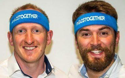 Jonny Benjamin (right) was 'saved' from suicide by a passerby 'Mike' six years ago and now they are running the Marathon.