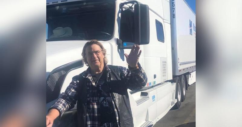 Gary Creelman, 70, with his truck, equipped with a microwave, toaster oven and toilet. (Photo: Supplied)