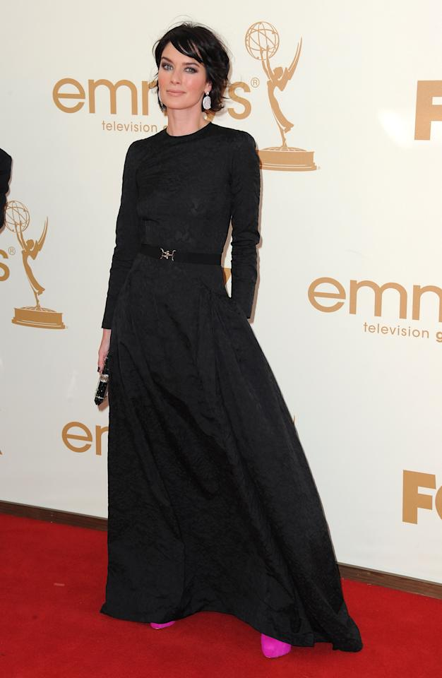 LOS ANGELES, CA - SEPTEMBER 18:  Actress Lena Headey arrives at the 63rd Primetime Emmy Awards on September 18, 2011 in Los Angeles, United States.  (Photo by Jordan Strauss/WireImage)