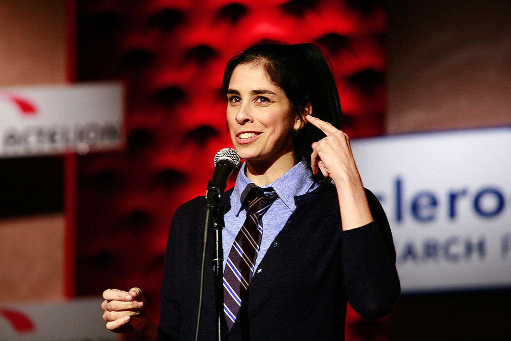 """Infamous potty mouth Sarah Silverman treats the star-studded crowd to her comedy routine. Dale Wilcox/<a href=""""http://www.wireimage.com"""" target=""""new"""">WireImage.com</a> - April 16, 2008"""