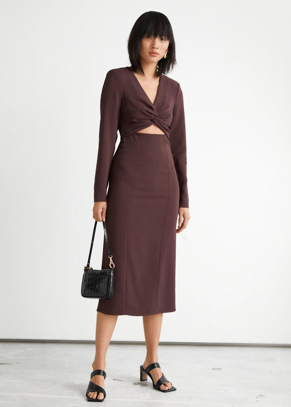 <p><span>&amp; Other Stories Side Slit Cut Out Midi Dress</span> ($70, originally $129 (plus 30% off with code SUMMER30))</p>