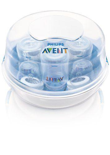 "<p><strong>Philips Avent</strong></p><p>amazon.com</p><p><strong>$21.99</strong></p><p><a href=""https://www.amazon.com/dp/B007VBXKG2?tag=syn-yahoo-20&ascsubtag=%5Bartid%7C10055.g.34800241%5Bsrc%7Cyahoo-us"" rel=""nofollow noopener"" target=""_blank"" data-ylk=""slk:Shop Now"" class=""link rapid-noclick-resp"">Shop Now</a></p><p><strong>Budget-friendly, fast, and effective, this microwave sterilizer claims to be BPA free and kill 99.9% of bacteria in under two minutes.</strong> It can hold up to four different sized bottles, breast pump parts, and feeding accessories. It fits into most microwaves and will keep everything clean for 24 hours if you keep the lid closed. Another noteworthy feature is that the handles stay cool, so you can safely remove it from the microwave without any harm.</p>"