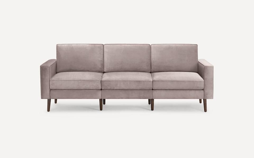 <p><span>Burrow Nomad Velvet Sofa</span> ($1,595, use code LDW to get up to $500 off)</p>