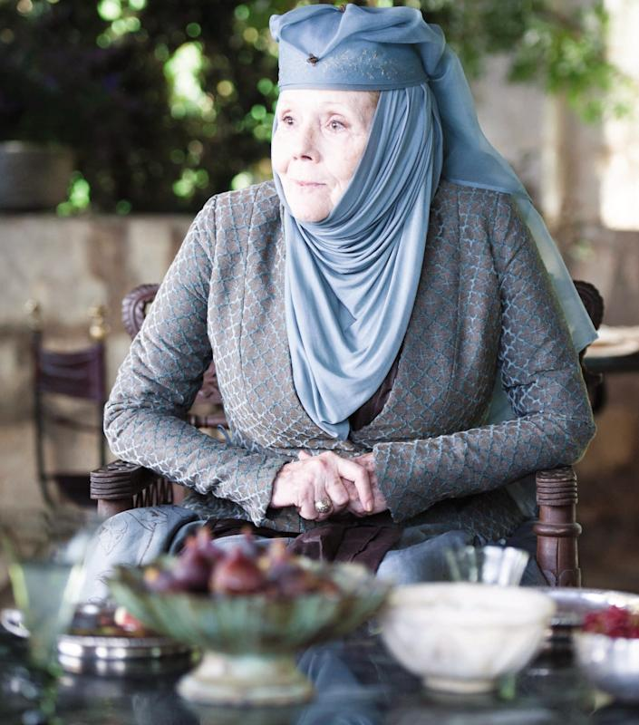 As the fearless Lady Olenna Tyrell in Game of Thrones