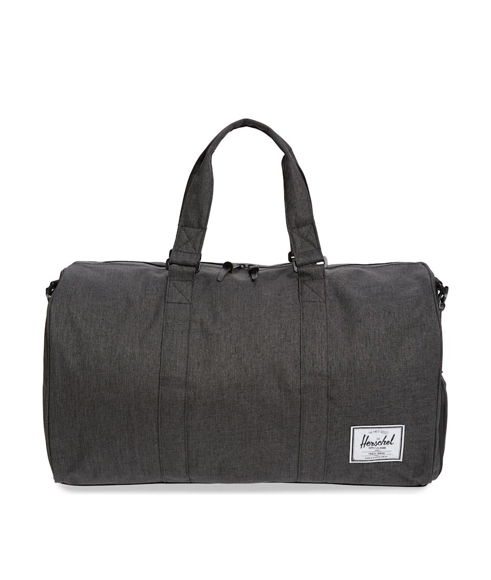 "If your pops is always on the go, gift him a quality duffel bag from Herschel. Shop it at Nordstrom to take advantage of no-contact curbside pickup, or order before June 19 for next-business-day shipping. $90, Nordstrom. <a href=""https://shop.nordstrom.com/s/herschel-supply-co-novel-duffle-bag/5293829"" rel=""nofollow noopener"" target=""_blank"" data-ylk=""slk:Get it now!"" class=""link rapid-noclick-resp"">Get it now!</a>"