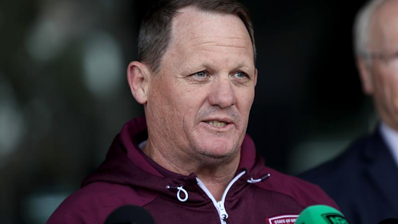 Kevin Walters, pictured here speaking to the media ahead of State of Origin in 2019.