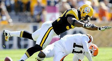 James Harrison caught great scrutiny in 2010 for his big hit on Browns WR Mohamed Massaquoi