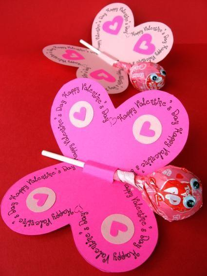 "<p>Set hearts aflutter with these cute butterfly Valentines. Add a red or pink lollipop to the middle to sweeten the deal!</p><p><strong>See more at <a href=""https://www.skiptomylou.org/printable-lollipop-butterflies-and-flowers-for-spring/"" rel=""nofollow noopener"" target=""_blank"" data-ylk=""slk:Skip to My Lou"" class=""link rapid-noclick-resp"">Skip to My Lou</a>.</strong></p><p><a class=""link rapid-noclick-resp"" href=""https://go.redirectingat.com?id=74968X1596630&url=https%3A%2F%2Fwww.walmart.com%2Fip%2FCherry-Tootsie-Pops-60-pops%2F723203753&sref=https%3A%2F%2Fwww.thepioneerwoman.com%2Fhome-lifestyle%2Fcrafts-diy%2Fg35084525%2Fdiy-valentines-day-cards%2F"" rel=""nofollow noopener"" target=""_blank"" data-ylk=""slk:SHOP CHERRY TOOTSIE POPS"">SHOP CHERRY TOOTSIE POPS</a></p>"