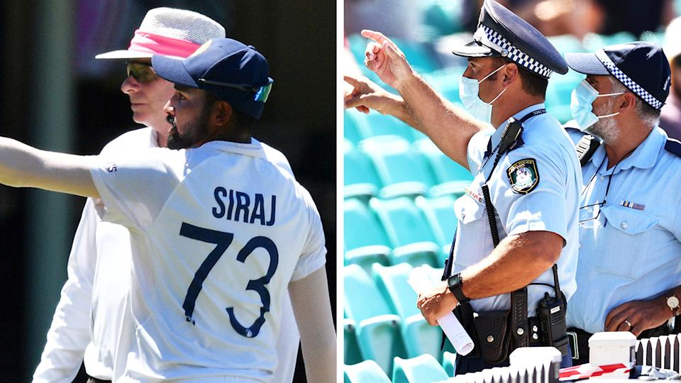 Indian bowler Mohammed Siraj was abused by fans at the SCG for the second day in a row, prompting police to remove six men from the crowd; Pictures: Getty Images