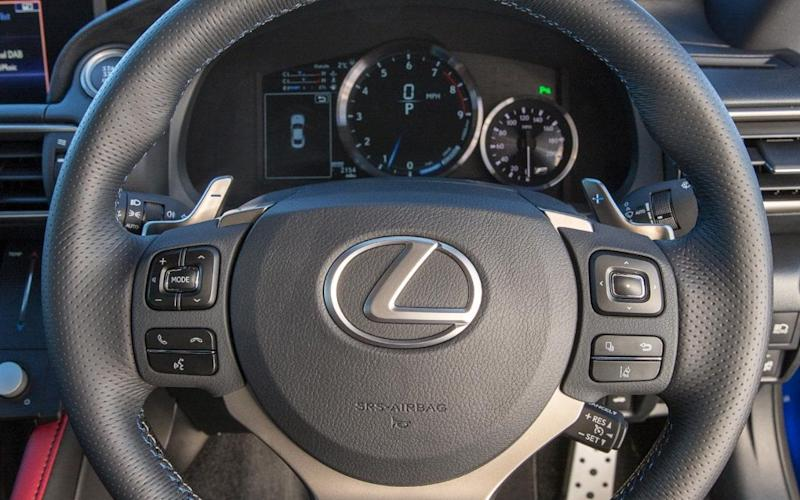 Lexus RC F dashboard