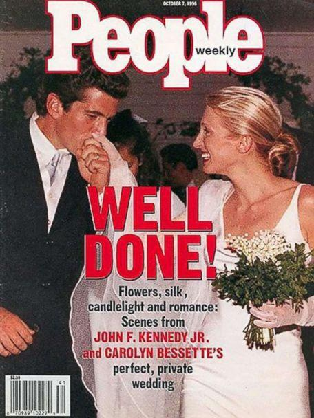 PHOTO: John F. Kennedy Jr. and Carolyn Bessette's wedding is pictured on the front page of People magazine in October 1996. (People)