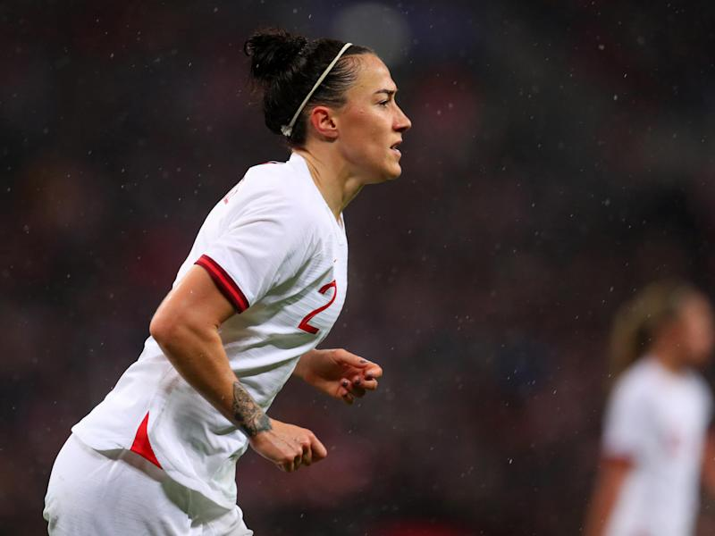 Lucy Bronze says England Women have to improve after a disappointing performance at Wembley: Getty
