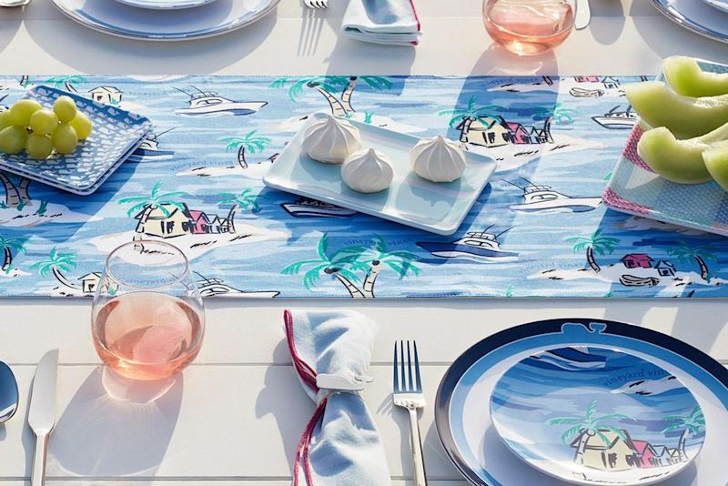 Vineyard Vines and Target launched the summer collection of your dreams with clothing, swimwear, pool floats, and tabletop entertaining items.