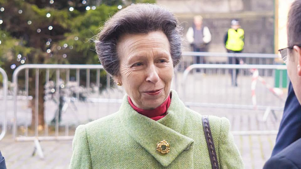 EDINBURGH, SCOTLAND - November 29, 2017: HRH Princess Anne with the Lord Provost of Edinburgh for the inauguration of the new French consulate in Lothian Chambers.