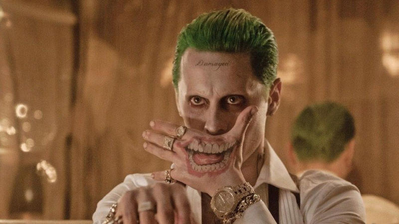 Jared Leto as the Joker in 2016's 'Suicide Squad'. (Credit: DC/Warner Bros)