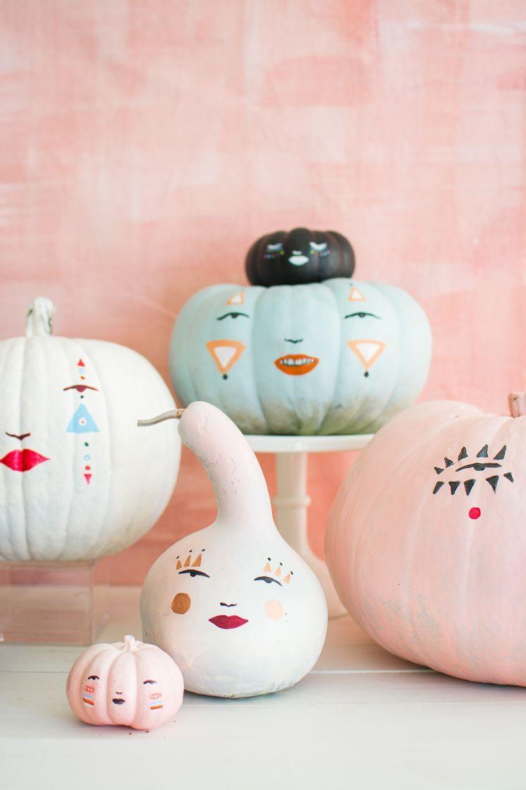 """<p>Some pastel pumpkins could add a cool contrast to your spookier Halloween decor. These are like mini art pieces — and they don't require you to pick up a knife. </p><p><em><a href=""""https://thehousethatlarsbuilt.com/2017/10/pastel-pumpkin-faces.html/"""" rel=""""nofollow noopener"""" target=""""_blank"""" data-ylk=""""slk:Get the tutorial at The House That Lars Built »"""" class=""""link rapid-noclick-resp"""">Get the tutorial at The House That Lars Built »</a></em></p><p><strong>RELATED:</strong> <a href=""""https://www.goodhousekeeping.com/holidays/halloween-ideas/g1566/easy-halloween-craft-ideas/"""" rel=""""nofollow noopener"""" target=""""_blank"""" data-ylk=""""slk:56 Easy Crafts for Adults Who Love Halloween"""" class=""""link rapid-noclick-resp"""">56 Easy Crafts for Adults Who Love Halloween</a></p>"""