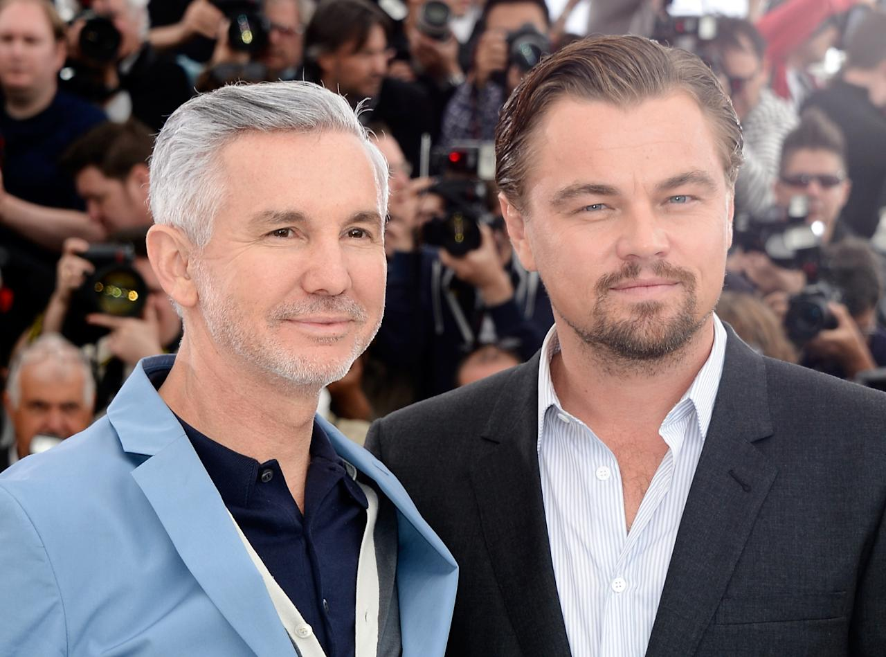 CANNES, FRANCE - MAY 15:  Director Baz Luhrmann	 (L) and actor Leonardo DiCaprio attend 'The Great Gatsby' photocall during the 66th Annual Cannes Film Festival at the Palais des Festivals on May 15, 2013 in Cannes, France.  (Photo by Pascal Le Segretain/Getty Images)