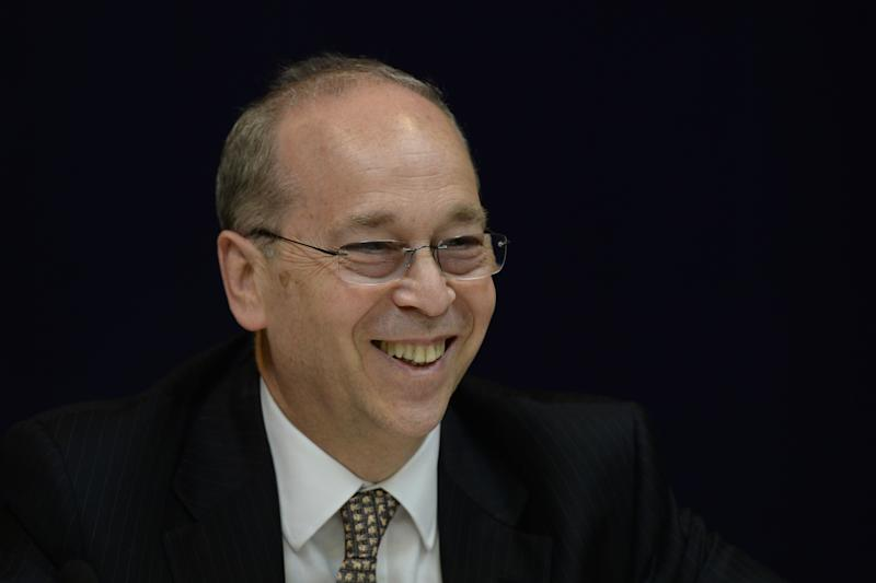 US Assistant Secretary of State for East Asian and Pacific Affairs Daniel Russel smiles while meeting reporters in Hong Kong on May 6, 2014