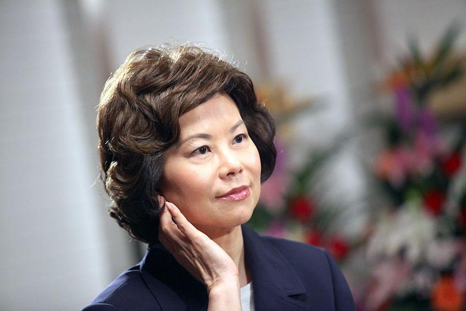 """<p>Born in Taiwan in 1953, Elaine Chao immigrated to the United States <a href=""""http://www.elainelchao.com/childhood-family/"""" rel=""""nofollow noopener"""" target=""""_blank"""" data-ylk=""""slk:on a cargo ship"""" class=""""link rapid-noclick-resp"""">on a cargo ship</a> when she was eight. She spoke no English at the time. Since then, she's served in some of the highest positions of government, banking, and the nonprofit world—most recently as President Trump's Secretary of Transportation, until she announced her resignation in the wake of the <a href=""""https://www.townandcountrymag.com/society/politics/a35142089/pro-trump-mob-congressional-vote-certification/"""" rel=""""nofollow noopener"""" target=""""_blank"""" data-ylk=""""slk:pro-Trump riot at the Capitol"""" class=""""link rapid-noclick-resp"""">pro-Trump riot at the Capitol</a>. Here are nine things you should know about her and what she's accomplished.</p>"""