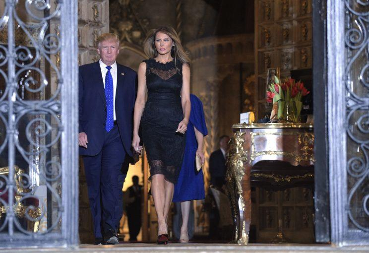 Melania Trump Wears Backless Black Dress for Saturday ...