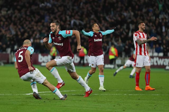 West Ham 1 Stoke City 1: Andy Carroll goal rescues Hammers in Premier League relegation battle at London Stadium