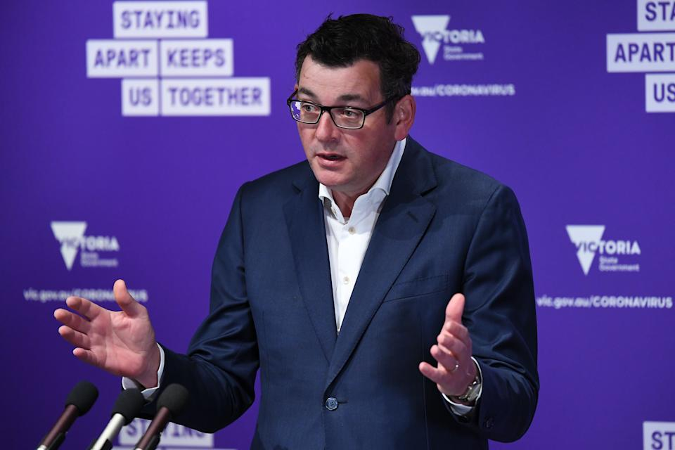 Daniel Andrews has stressed the importance of seeing out the current roadmap. Source: AAP