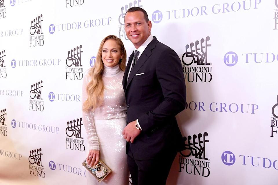 "<p>It seems J-Lo and A-Rod have been slaying red carpets as a couple for far longer than they actually have. The triple threat started dating the former Yankees player in 2017. Since then, the pair has blended their families and <a href=""https://www.usmagazine.com/celebrity-news/news/jennifer-lopez-and-alex-rodriguez-are-engaged/"" rel=""nofollow noopener"" target=""_blank"" data-ylk=""slk:got engaged"" class=""link rapid-noclick-resp"">got engaged</a>. Now we just need this American Royal Wedding to happen ASAP.</p>"