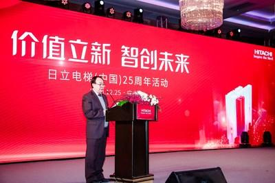 Zhang Daoquan, Deputy Director of Guangzhou SASAC, delivering a speech