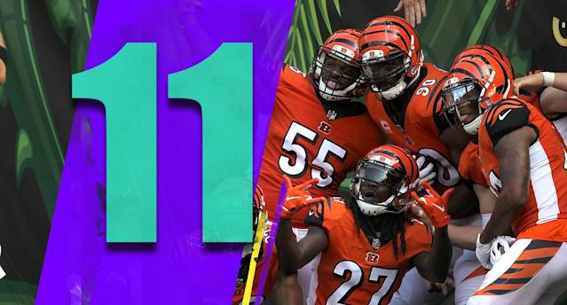 <p>The Bengals are still hard to figure out. They didn't look very good late in the third quarter Sunday when they trailed the shaky Dolphins 17-0. But they won, they're 4-1, and that's tough to overlook. (Bengals defense) </p>
