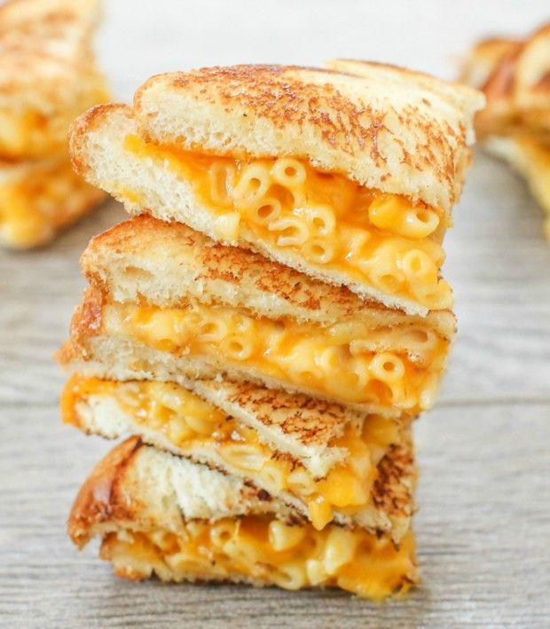 """<p>Add some mac to that grilled cheese and you've got a real winner.</p><p>Get the recipe from <a href=""""http://kirbiecravings.com/2014/09/grilled-macaroni-and-cheese-sandwich.html"""" rel=""""nofollow noopener"""" target=""""_blank"""" data-ylk=""""slk:Kirbie's Cravings"""" class=""""link rapid-noclick-resp"""">Kirbie's Cravings</a>.</p>"""