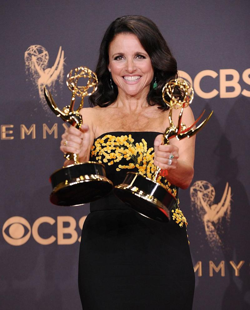 The actress found out about her diagnosis the day after winning an Emmy for her role in Veep. Source: Getty