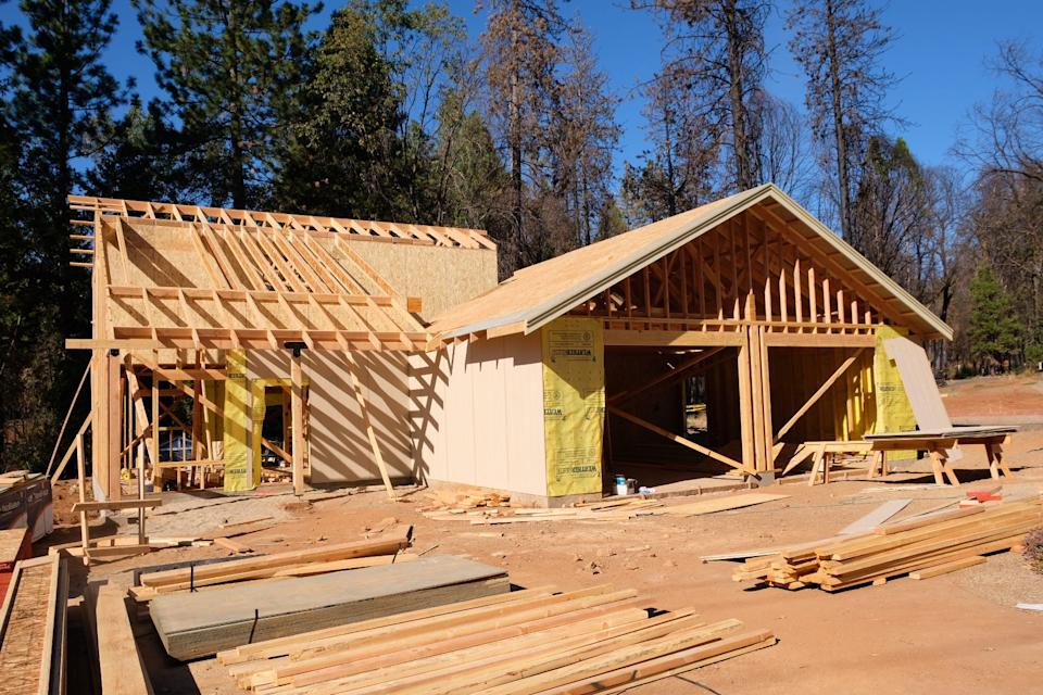 A house under construction in Magalia, California, a community in unincorporated Butte County, in September 2019.