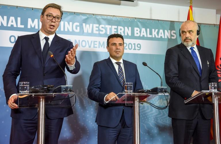 The three Balkans leaders want to ease trade and travel between their countries, and others in the region