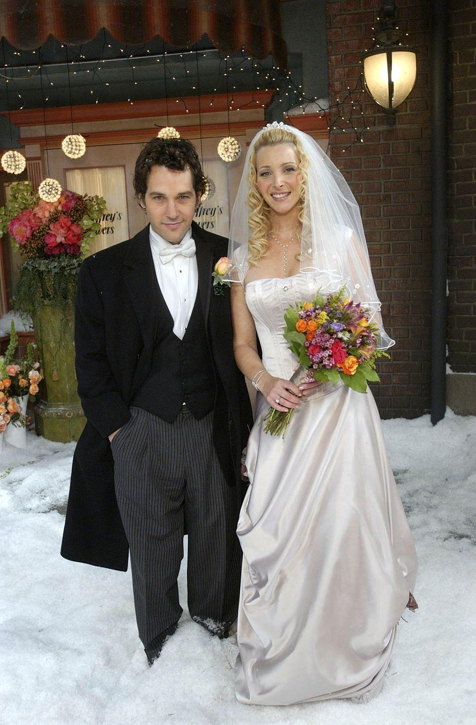 <p>Paul Rudd first appeared on the show as Phoebe's pianist boyfriend, Mike Hannigan, in season 9. After a brief breakup, Paul returns in season 10 and the two get married in the final season.</p>