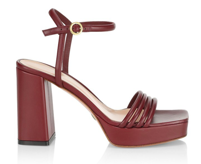 Gianvito Rossi's leather platform sandals. - Credit: Courtesy of Saks Fifth Avenue