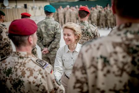 German Defence Minister Ursula von der Leyen visits troops in Afghanistan