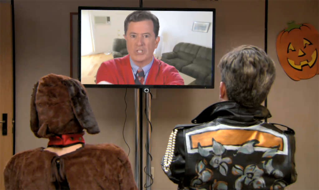 "<b>Stephen Colbert on ""The Office"" (October 25) </b><br><br>Listen up, Nation: Comedy Central's top political blowhard is heading to Scranton for a reunion with fellow ""Daily Show"" alum Ed Helms, guest starring as Andy's hated a cappella rival Broccoli Rob. Andy and Rob's college group reunites for a performance at the Dunder-Mifflin Halloween party… but old wounds threaten to spoil the holiday spirit. Settle it with a sing-off! Sing-off! Sing-off!  <br><br><b>Worth Watching?</b> Heck yeah. We haven't watched ""The Office"" in years, but we'll tune in for this."