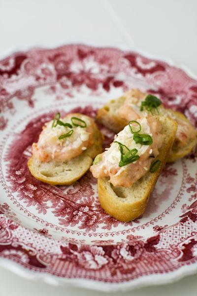 In this image taken on January 14, 2013, baked sesame shrimp toasts are shown served on a plate in Concord, N.H. (AP Photo/Matthew Mead)
