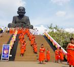 <b>Wat Huay Mongkol</b><br><p><b>Home to the immensely large statue of the popular monk, Luang Phor Thuad</b></p><br><p>The Thais are known for the religious devotions, which is why temples and monuments are aplenty. In Hua Hin, some 15km west of the city centre, is where you'll find the enormous status of one of Thailand's most famous monks, Luang Phor Thuad who is known for his miracles at the temple Wat Huay Mongkol. An example of his miracle? Once on a boat in the open sea where all fresh water has been consumed, Luang Phor Thuad dipped his foot into the sea to draw a circle and told a sailor to fetch fresh drinking water from the area. The sailor was in doubt for they were surrounded by nothing but seawater. But he did what he was told and tasted the water for himself and found it to be drinkable like normal fresh water!</p>