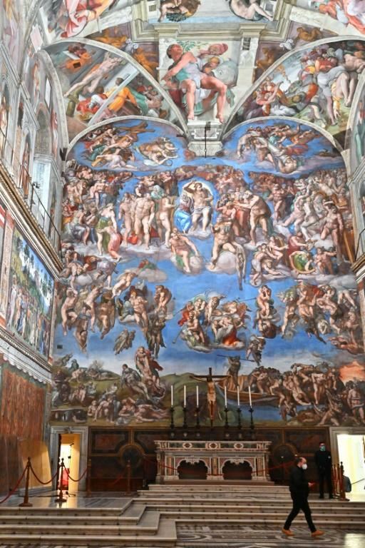 The Sistine Chapel has had its annual deep-clean earlier than usual during the shutdown