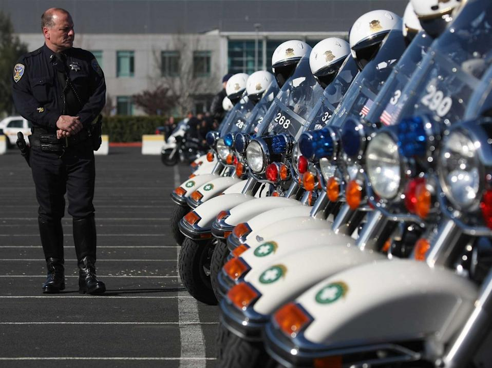 police officer motorcycles cop