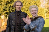 """<p><em>Nominated for: Best Television Series–Musical or Comedy; Best Performance by an Actress in a Television Series–Musical or Comedy (Elle Fanning); Best Performance by an Actor in a Television Series—Musical or Comedy (Nicholas Hoult)</em></p> <p>This smart and sophisticated take on Catherine the Great's life in Russia takes a few historical liberties—everyone involved was far older than depicted when the events of the first season occurred—but it is undeniably fun, raunchy, surprising, and gorgeous.</p> <p><a href=""""https://cna.st/affiliate-link/428C3oXt2rzkDZs6XgNgJuuac1g7WSn8cLbaq6XoNBU2bwzWPCziUzj7b7c5LWRF9vjYrfCSxdDBC7KYikDrjpWbDm8pqM6SCBBEkRwm78kJg9koXrJr3tfhRcPQfpLCCh8dLDGEBPTHm?cid=6036698abcce7a85897e6399"""" rel=""""nofollow noopener"""" target=""""_blank"""" data-ylk=""""slk:Watch now on Hulu"""" class=""""link rapid-noclick-resp""""><em>Watch now on Hulu</em></a></p>"""