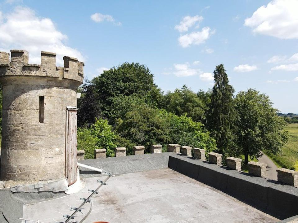 The neo-gothic tower boasts views as far as Wiltshire to the east and Wales to the west (Knight Frank)