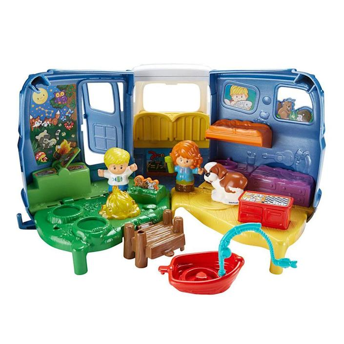 """<p><a class=""""link rapid-noclick-resp"""" href=""""https://www.amazon.com/Fisher-Price-Little-People-Sounds-Camper/dp/B019RP6NSQ/ref=sr_1_3?tag=syn-yahoo-20&ascsubtag=%5Bartid%7C10063.g.34738490%5Bsrc%7Cyahoo-us"""" rel=""""nofollow noopener"""" target=""""_blank"""" data-ylk=""""slk:BUY NOW"""">BUY NOW</a><br><br>The <a href=""""http://tracystoys.blogspot.com/2011/06/fisher-price-fire-trucks-looky-winky.html"""" rel=""""nofollow noopener"""" target=""""_blank"""" data-ylk=""""slk:Looky Fire Truck"""" class=""""link rapid-noclick-resp"""">Looky Fire Truck</a> came out in 1950, launching what — more than half a century later — is still a wildly popular toy line. But you'll notice the three tiny firemen attached to the truck look a lot different than the wide array of <a href=""""https://www.amazon.com/s?k=fisher+price+little+people&i=toys-and-games&hvadid=178146490021&hvdev=c&hvlocphy=9073479&hvnetw=g&hvpos=1t1&hvqmt=e&hvrand=14116529119458825898&hvtargid=kwd-94381455&tag=syn-yahoo-20&ref=pd_sl_3bpfwty7gw_e&ascsubtag=%5Bartid%7C10063.g.34738490%5Bsrc%7Cyahoo-us"""" rel=""""nofollow noopener"""" target=""""_blank"""" data-ylk=""""slk:Fisher-Price's Little People"""" class=""""link rapid-noclick-resp"""">Fisher-Price's Little People</a> out today. The Fisher-Price figures have even grown into a franchise with animated television episodes and more.</p><p><strong>More:</strong> <a href=""""https://www.bestproducts.com/lifestyle/g18665802/top-albums-from-the-year-you-were-born/"""" rel=""""nofollow noopener"""" target=""""_blank"""" data-ylk=""""slk:See What the Most Popular Album Was the Year You Were Born"""" class=""""link rapid-noclick-resp"""">See What the Most Popular Album Was the Year You Were Born</a><br></p>"""