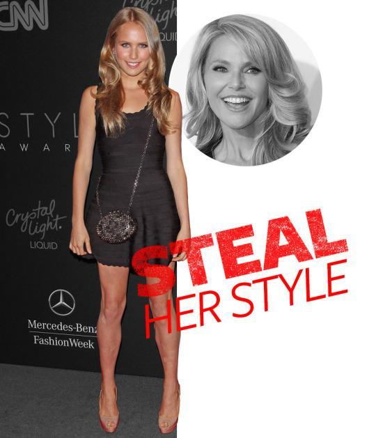 <p>When it comes to Sailor Brinkley Cook's personal aesthetic, the apple hasn't fallen far from the tree: Both she and her model mom Christie Brinkley are all about bombshell blonde waves, super short hemlines, and mile long legs to go with them. The 17-year-old stunner typically goes for an All-American look in the day, but at night, she's <i>very</i> va-va-voom. </p>